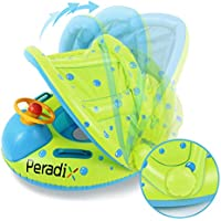 Peradix barca per bebè gonfiabili,Piscina Baby Salvagente Bambini Float con Parasole