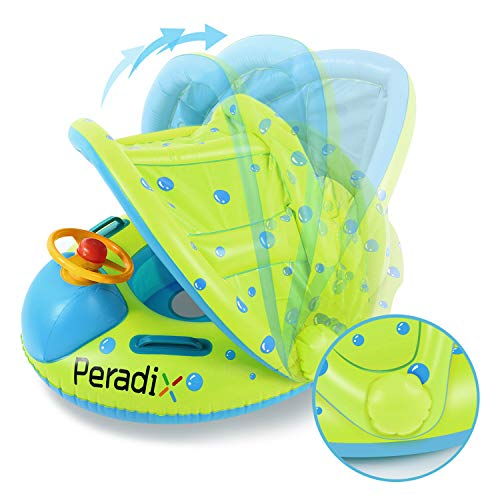 Peradix Flotador para Bebé con Asiento, Respaldo, Techo del...
