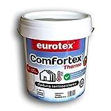 Pintura acrílica termoaislante Comfortex thermo Eurotex reduce la pérdida energética, tanto en verano como en invierno. - Previene las humedades y el