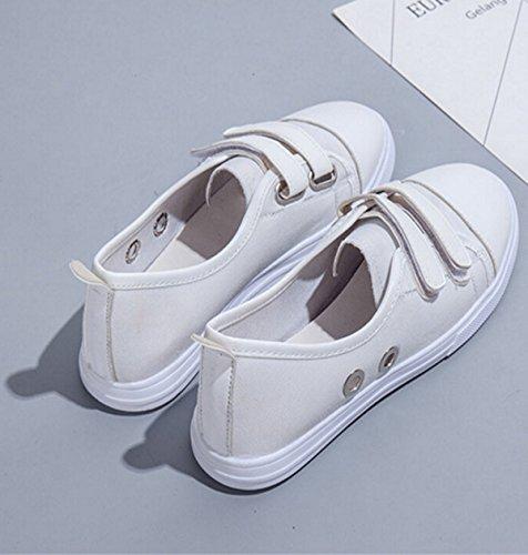 Une Chaussures De Toile Velcro Pédale Sauvage Asakuchi white