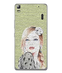 PrintVisa Designer Back Case Cover for Lenovo A7000 :: Lenovo A7000 Plus :: Lenovo K3 Note (Girl Flower Pose Photo Texture Sexylook Blonde)