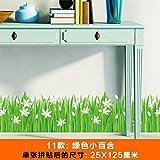 SMNCNL Wand - Blume Garten Zaun Linie selbst Fußleisten Kleber Aufkleber Schmetterling Hintergrundbild Dekorationen, kleine grüne Lilie