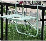 Klapptisch Wandklapptisch mit verstellbarer Multifunktion für den Freizeitbalkon - 60x40cm (Farbe: Grün)