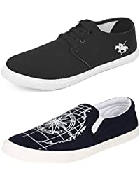 Chevit Men's Combo Pack Of 2 Printed Sneakers With Loafers (Casual Shoes) - B075ZTL38B