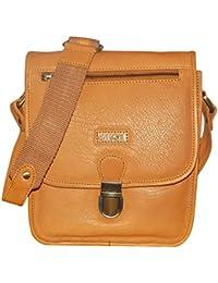 Kan 100% Genuine Leather Crossbody Sling Bag||Messenger Bag||Handbag||Hard Disk Bag||Neck Pouch||Shoulder Bag... - B071QYRRQJ