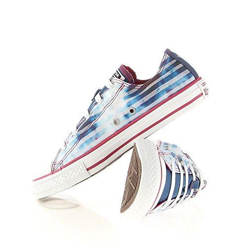 Converse Chuck Taylor Bar & Stars Ox Unisex-Kinder Sneaker Blau