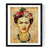 Frida Kahlo Druck   Selbstportrait auf spanischer Definition von Kunst – Poster auf 250g Papier