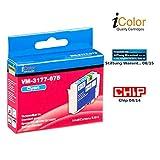 iColor Tintentank: Patrone für Epson (ersetzt T1631 T1632 T1633 T1634 T1635/ 16XL), cyan (Tinte)