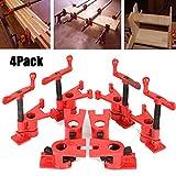 4 sets Clamp, Rohr-Schraubzwinge Schnellspanner Clamp Wood Clamp Schnellspanner Heavy Duty Wide Basis Eisen Holz Metall Clamp Set Holzbearbeitung Werkbank