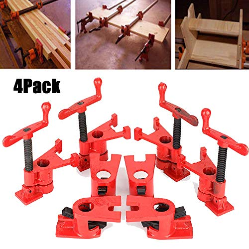 4 sets Clamp, Rohr-Schraubzwinge Schnellspanner Clamp Wood Clamp Schnellspanner Heavy Duty Wide Basis Eisen Holz Metall Clamp Set Holzbearbeitung Werkbank
