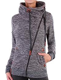 Damen Jacke Sweatjacke Fleece Übergangsjacke Kapuzenjacke Zip Hoodie Sweater ☆F26