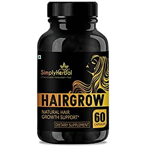 Simply Herbal Natural Extracts For Hair Growth , Premature Baldness, Hair Fall Control & Dandruff - 60Caps (1)