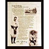 Steiner Sports MLB New York Yankees LOU Gehrig, 8x 10-inch Plaque
