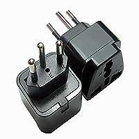 UK to Switzerland Adaptor, uk to Swiss Plug Adaptor Travel Converter(Pack of 2)