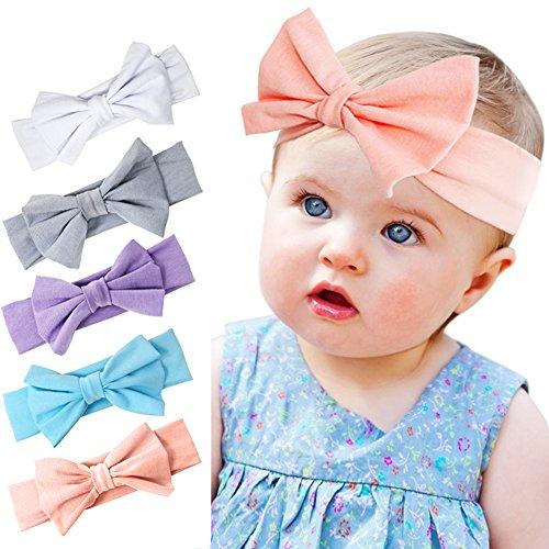 Mädchenstirnbänder mit Elastics Flower Bow Haar Zubehör Satz für Säugling