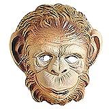 PARTY DISCOUNT Neu Maske Affe aus Plastik, Braun