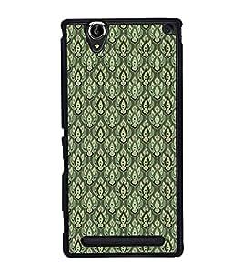 PrintVisa Designer Back Case Cover for Sony Xperia T2 Ultra :: Sony Xperia T2 Ultra Dual SIM D5322 :: Sony Xperia T2 Ultra XM50h (Floral Texture Pattern Design Fabric )