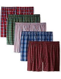 KRYPTAR Men's Cotton Boxer Shorts Multicolour (Pack of 5)