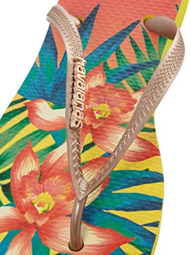 Havaianas Tongs Femme Slim Tropical Beige