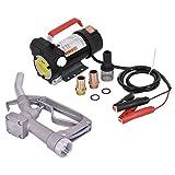 COSTWAY Dieselpumpe-Set mit Schlauch Dieselpumpe + Zapfpistole / Heizölpumpe Kraftstoffpumpe Ölpumpe Fasspumpe(12V 40L/min) mit Zapfpistole und Zubehör