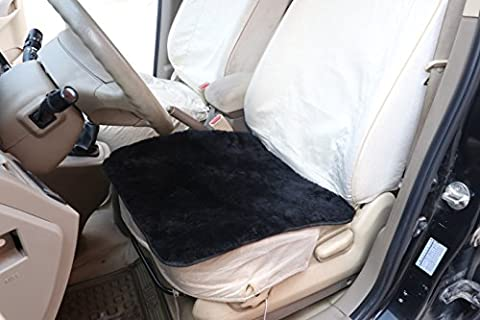 WOLTU AS7340sz Luxury Lambskin Wool Fleece Car Seat Cushion Sheepskin Car Seat Cushion for Decoration and Warm in Winter, ca.1.8cm thick, 50 x 50cm,