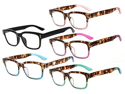 Eyekepper Estilo Gafas De Lectura Para Mujer 5 Paquete Mixed Color +2.5