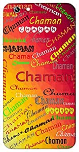 Chaman (Garden) Name & Sign Printed All over customize & Personalized!! Protective back cover for your Smart Phone : Moto X-STYLE
