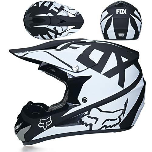 YUEYE Motorrad Motocross Motorradhelme Windschutzmaske Handschuhe SCHUTZBRILLE D.O.T Standard Kinder Quad Bike ATV Go-Kart-Helm Virtue,08,XL - Atv Kinder Blau Helm