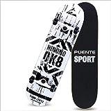 BXQIT Skateboarding Professionale, Skateboarding Principianti, Usura-Resistente Skateboard Adulto Antiscivolo, High-Elastico Scooter Ragazza della Gioventù,C