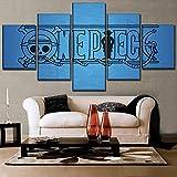 GJXYYD Modulare Bild Hd Druck Leinwand Malerei Anime 5 Stück Dekoration Wohnzimmer Wandkunst Arbeit Poster 200X100CM, Leinwandbild - 5 Stück - Bilder Gemälde auf Leinwand Wandkunst für Wohnzimmer Sch