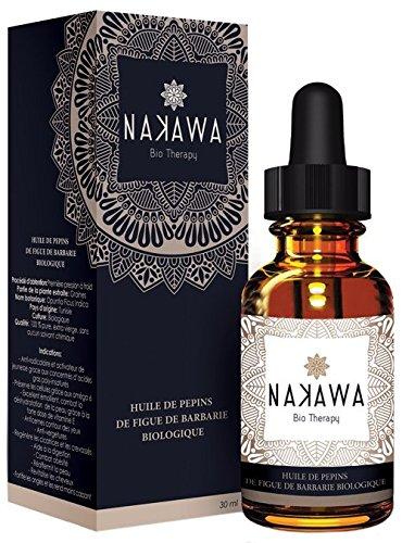 Bio-Kaktusfeigenkernöl by NAKAWA ® - 100% Organic - ohne Zusatzstoffe - Nachhaltige Pflege und Regeneration von Haut, Gesicht und Haar - Gesichtsöl - Haaröl - Nagelöl (30ml)