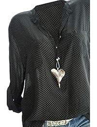 7e9701c7041c Camicia Donna Collo a V Maniche Lunghe T-Shirt Camisetta Bluse Basic Estivo  Causal Tops