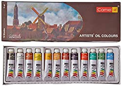 Camel Artist's Oil Color Box - 9ml tubes, 12 Shades