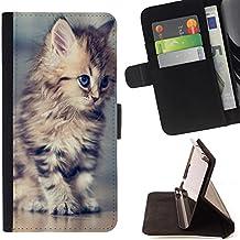 STPlus Animal bonito cachorro de gato Monedero Carcasa Funda para Sony Xperia M2