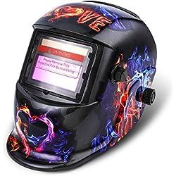 Masque de Soudure NASUM Masque de Soudage/Welding Masque DIN9-13, Énergie Solaire Automatique, Protection de Crâne pour le Soudage/TIG/MIG/MMA, Shield RoHS Certifié (Noir)