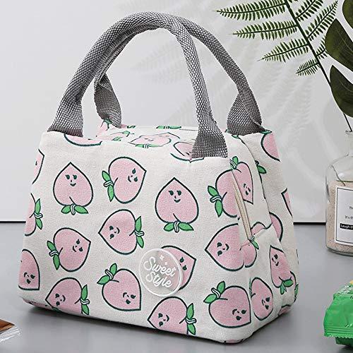 Gaddrt per i sacchetti di pranzo del dispositivo di raffreddamento termico degli uomini dei capretti isolati uomini della borsa della tela di canapa delle donne piccola (e)