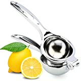 H&S® Manual Lemon Squeezer - Heavy Duty - Juice Extractor Single Press Hand Lime Citrus Fruit Juicer