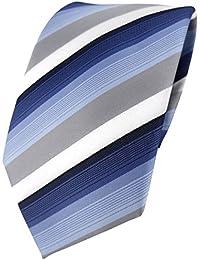 TigerTie Designer Krawatte gestreift -- 8 cm Krawatte in verschiedenen Farben