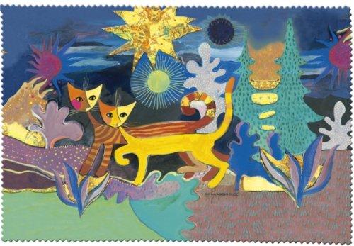 Fridolin Brillenputztuch Rosina Wachtmeister-Wonderland, Stoff, Mehrfarbig, 18x12.5x1 cm