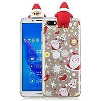 Everainy Huawei Y5 2018/Y5 Prime 2018 Silikon Hülle 3D Weihnachts dünn Durchsichtig Hüllen Handyhülle Gummi Huawei... preisvergleich bei billige-tabletten.eu