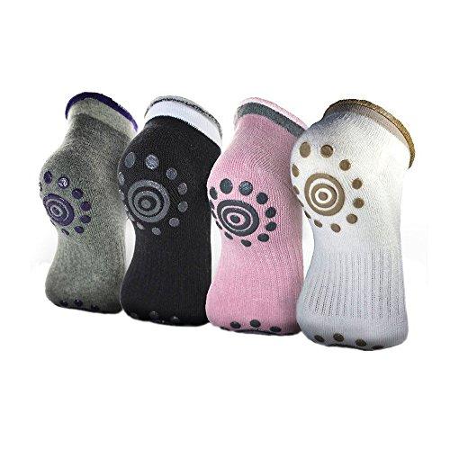 Lenhart 4Paar Silikon Dot Baumwolle rutschfeste Winter Yoga Socken für Frauen Color B Größe 4 Baby Boy Nike Schuhe