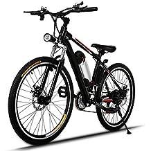 AMDirect Bicicleta de Montaña Eléctrica de 26 Pulgadas E-Bike Sistema de Transmisión de 21