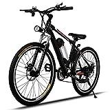 AMDirect Bicicleta de Montaña Eléctrica de 26 Pulgadas E-Bike Sistema de Transmisión de 21...