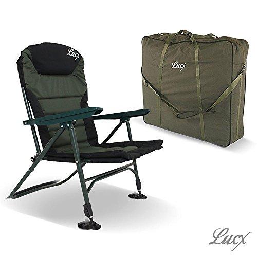 Lucx® Set / Angelstuhl Easyline / Karpfenstuhl / Carp Chair + Chair Bag / Tragetasche / Transporttasche für Stuhl