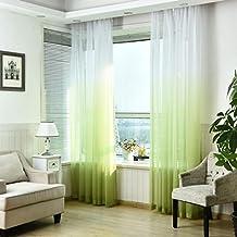 Ouneed 1Pc 100Wx270Lcm Moda gradiente pura puerta de tul cortina de ventana tratamiento voile drapeado bufanda