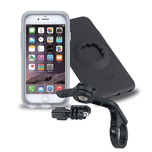 Tigra Sport MC-IPH62-BKF  Tigra Sport Fitclic MountCase 2 Bike Kit Smartphone Hülle und Out Front Forward Lenkerhalterung für iPhone 6/6s Inkl. Adapter für GoPro Kameras - Schwarz Schwarz -