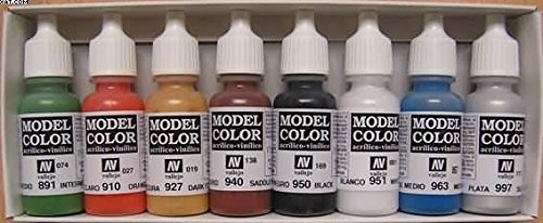 Affordable 3XVallejo Model Color Wargames Basics Acrylic Paint Set – Assorted Colours (Pack of 8) on Line