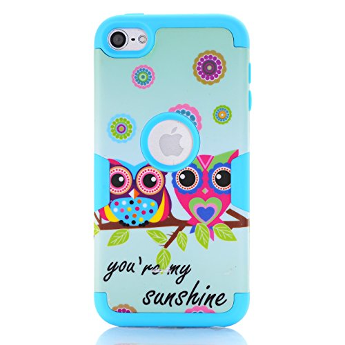 iPod Touch 6 Fall, iPod Touch 5 Fall, savyou Sunshine Cute Eule Owl Muster Dual Layer Hybrid Slim stoßfest Hard Schutzhülle für Apple iPod Touch 5 6. Generation 5 Fall Ipod