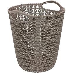 CURVER Paper bin Knit 23,1x23,9x27,2cm in Brown, 23.1 x 23.9 x 27.2 cm