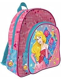 Mochila bolsillo 3D Princesas Disney adaptable 41cm